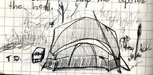 Shawn Cole's tent