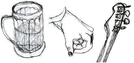 Mug. Hand. Bass.