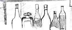 Bottles behind the bar.