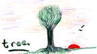 Completely fictional tree inspired by a visit to an ancient stone circle of mysterious origins.