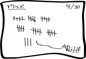 [an example card: mice (slight exaggeration)]